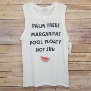 Junk Food NWT Palm Trees Perfection Muscle Tank